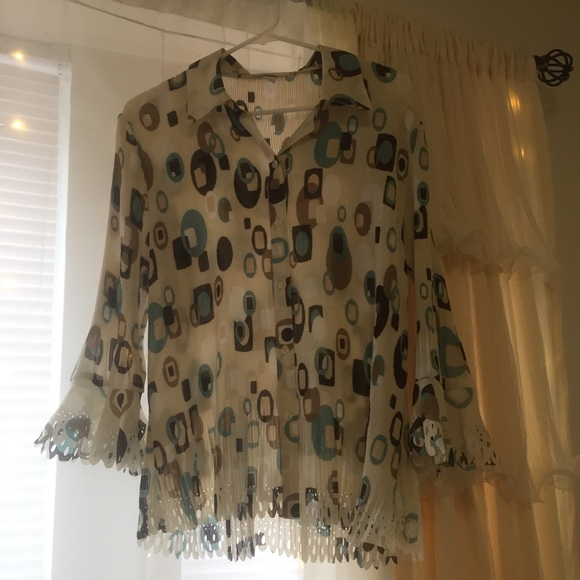Dress Barn Tops - Multi Pattern Blouse